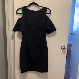 Eliza J dress black with off the shoulder